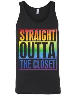 Straight Outta The Closet LGBTQ+ Canvas Unisex Tank