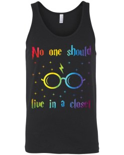 No One Should Live In A Closet Canvas Unisex Tank