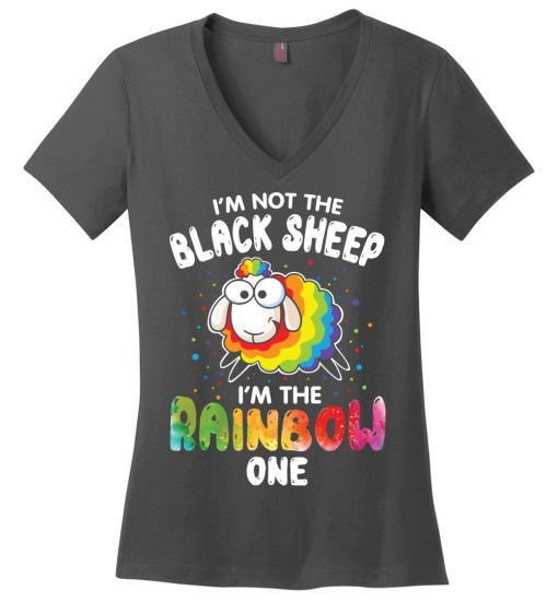 I'm Not The Black Sheep Ladies Perfect Weight V-Neck