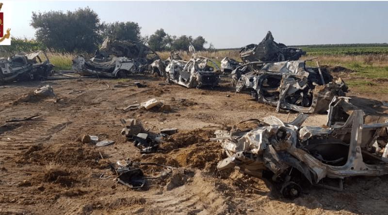 Marchiodoc - Cimitero auto rubate