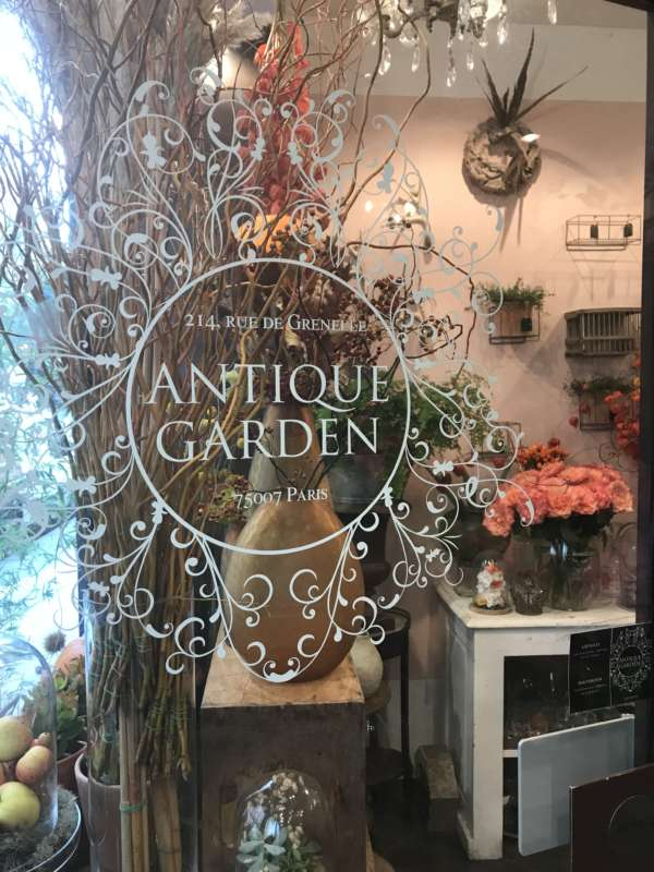 Postcards from Paris...Antique Garden Fleuriste