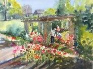 """Master Gardeners, 11"""" x 15"""" watercolor"""