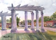 """Colosseum, First Place, Zone 3, Brush Creek Art Walk 2017; 11"""" x 15"""" Watercolor"""