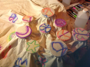 Tie-Dye Curtains In Process