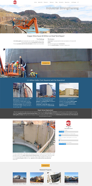 web-design-wp-development-steel-tank-project