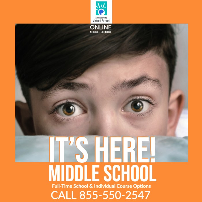 Middle school, it's here!