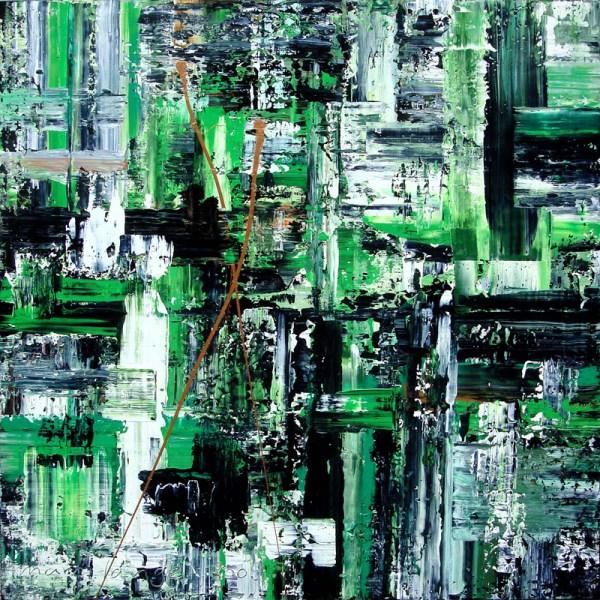 Green Metropole, 130 x 130 cm