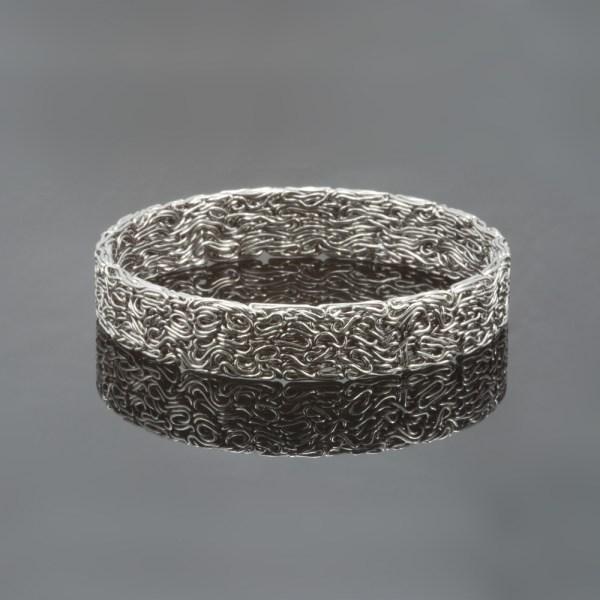 Edelstalen armband 'Pressed'