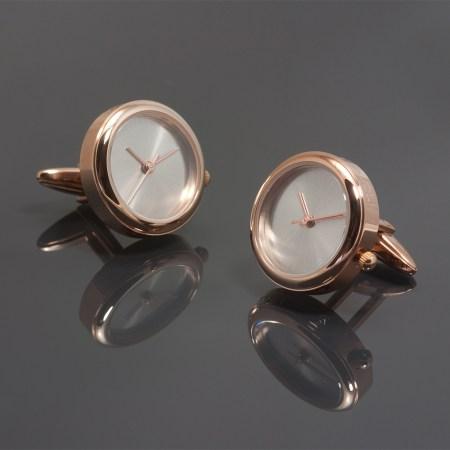 Manchetknopen èn horloge, rosé