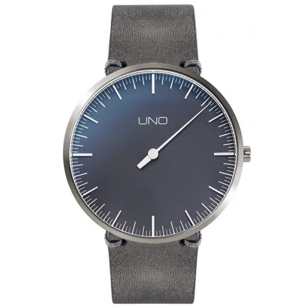 UNO Anniversary Model met appliques, parelzwart, 40 mm, titanium, quartz