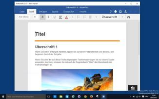 Windows 10, Office/Word Preview