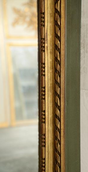 Antique Louis XVI Style Overmantel Pierglass With Putti