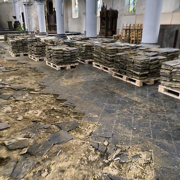 large 280m set of black stone tiles