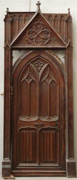 Neo Gothic Oak And Walnut Door Doors