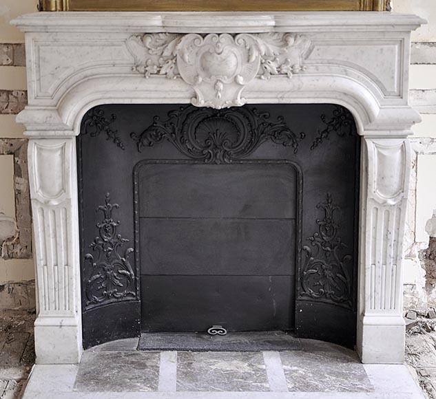 Very Beautiful Antique Regence Style Fireplace Made Out Of