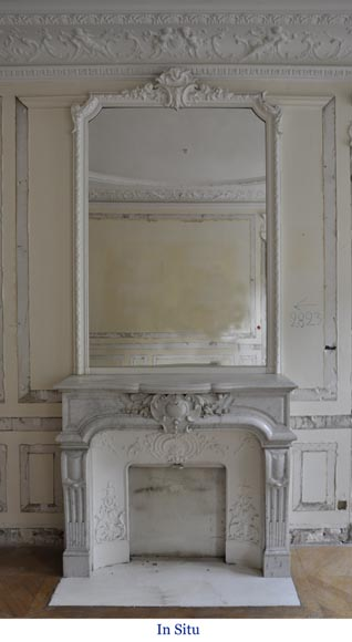 Beautiful Antique Regence Style Fireplace Made Out Of