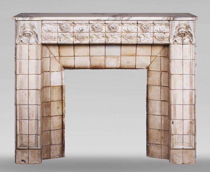 cheminee ancienne de style art nouveau