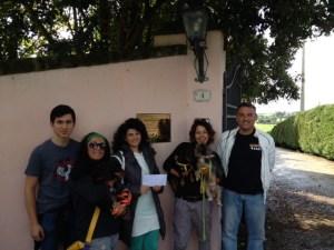 (da sinistra) Filippo (figlio di Alessandra), Marcella Giannini, Rossella Marino, Alejandra Contreras, Andrea Quaranta.
