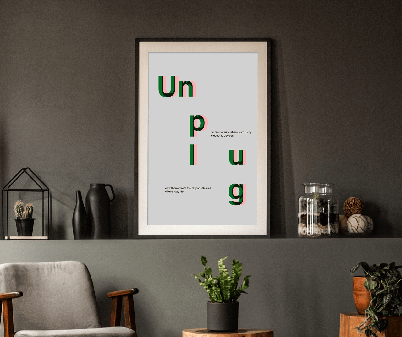 Free Office Interior Frame Poster Mockup PSD 2018
