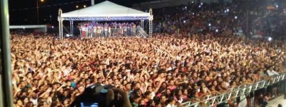 Pelo menos 30 mil pessoas foram ao evento, segundo a organização