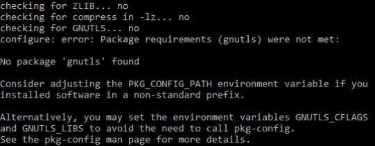 Lab4 wget build error