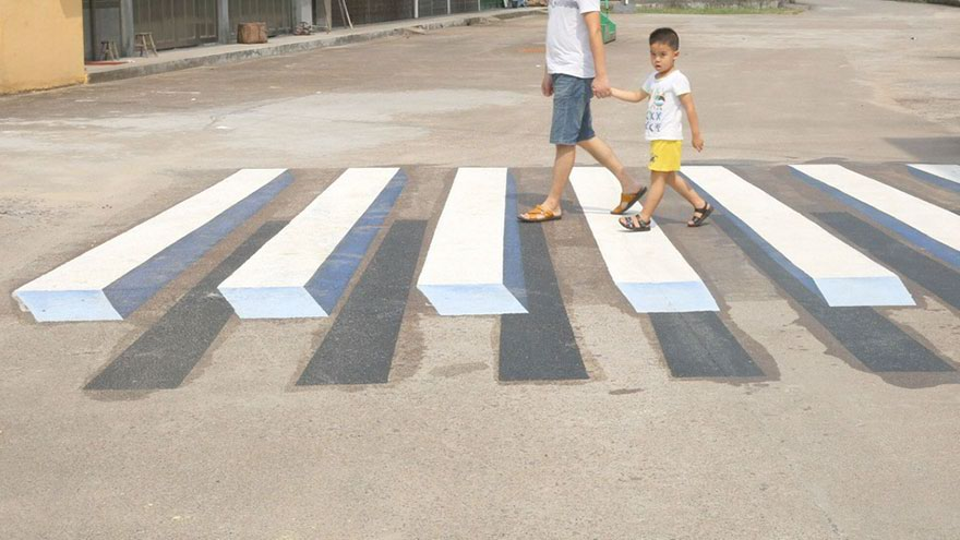 street art strisce pedonali india