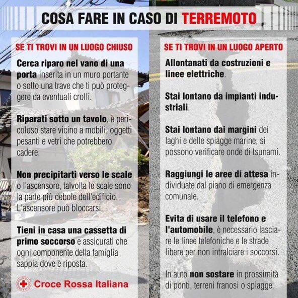Cosa fare durante il terremoto (Croce Rossa)