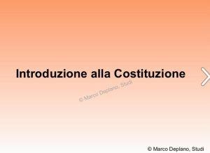 Introduzione alla Costituzione nelle scuole