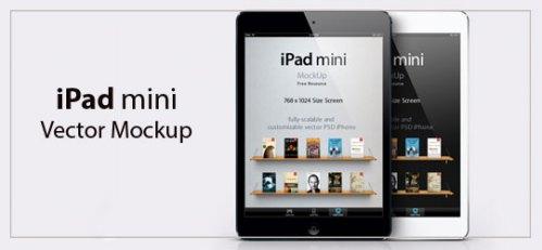 iPad mini Vector Mockup by Pixeden