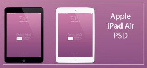 Apple iPad Air Mockup PSD by wellgraphic.com