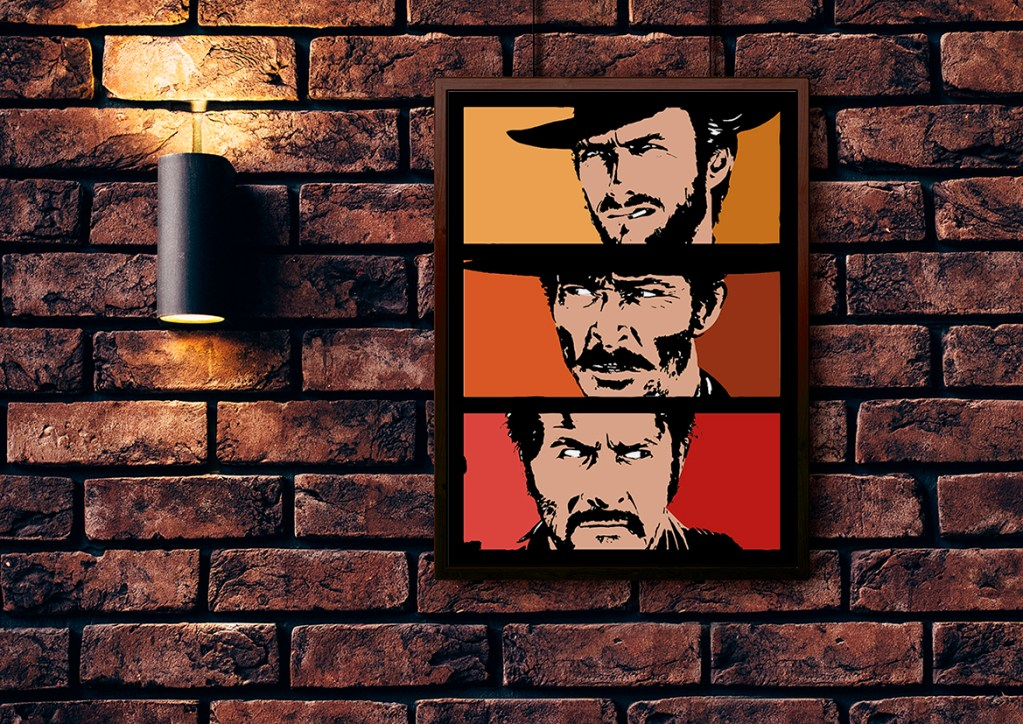 bad good ugly morricone sergio leone west western eastwood vector art adobe graphic