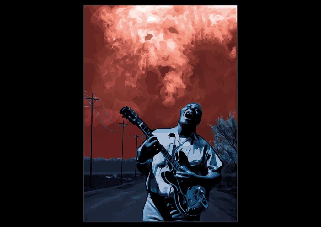 howling wolf mississippi blues devil cross roard music vector art adobe graphic