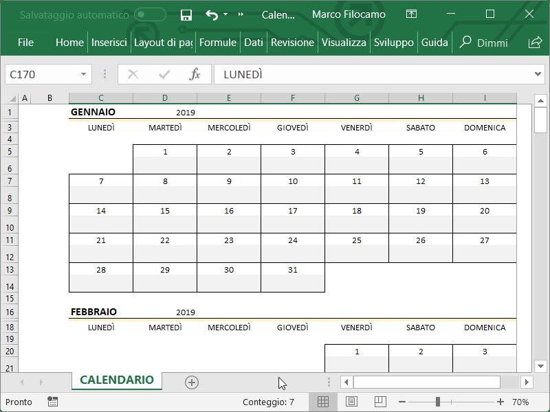 Calendario Excel 2019 Guide Microsoft Excel