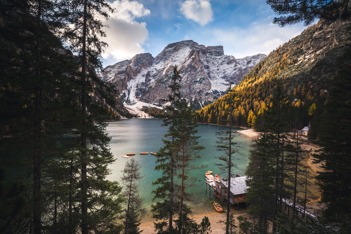 Autumn, Braies, Boat House, Dolomites, Dolomiti, Italy, Landscape, Marco Grassi, Marco Grassi Photography