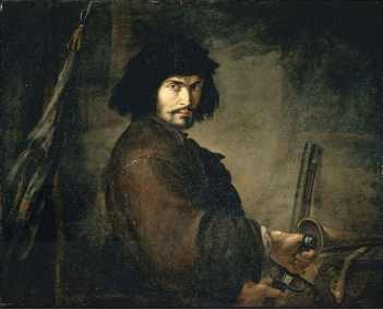 Salvator Rosa, Autoritratto in veste di guerriero