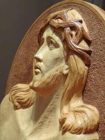 Caporaso, Volto di Cristo, particolare