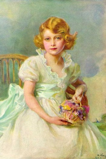 Philip Alexius de Laszlo, Princess Elizabeth of York, 1933