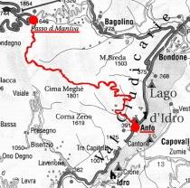 Cartina della strada Anfo-Baremone-Maniva