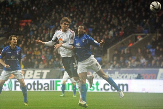 Marcos scores versus Birmingham | Photograph courtesy of BWFC