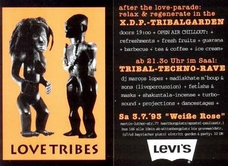 Die Lovetribes-Party fand 1993 in Schöneberg