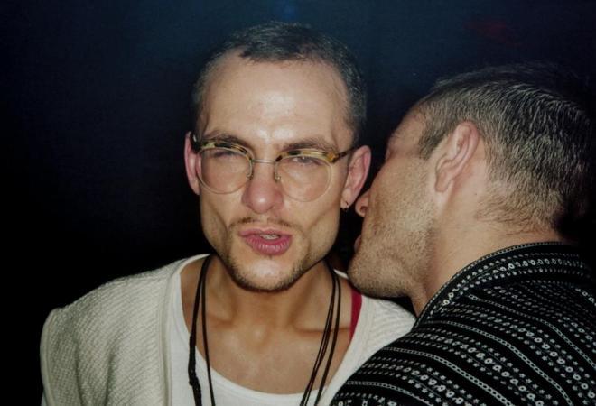 Marcos López in einem Berliner Club Anfang der 1990er