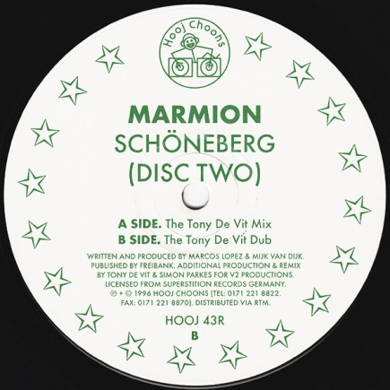 Label der Maxi-Single Schoeneberg 1996 Disc Two