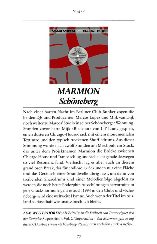 SZ-Diskothek 1994 - Ein Jahr und seine Songs, S. 70. Mit Schöneberg von Marmion.