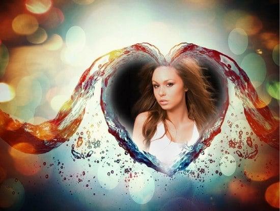 marcos de fotos de corazones