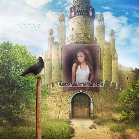 marco de castillo para fotos