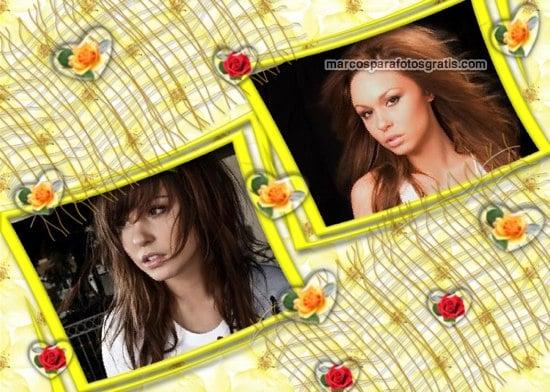 marcos de fotos amarillos