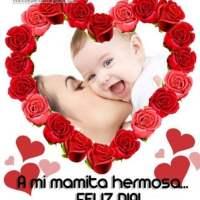 Marcos para el Día de la Madre: A mi mamita hermosa...