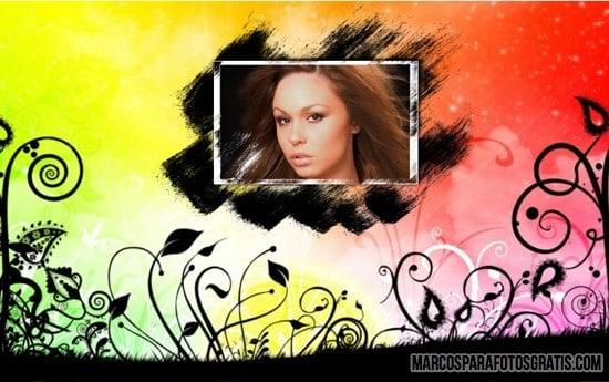 marcos de colores para dos fotos