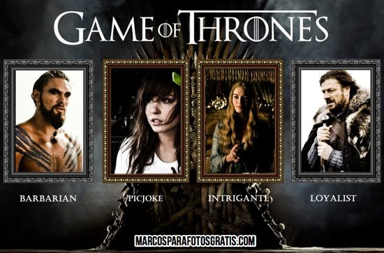 marcos de game of thrones para fotos