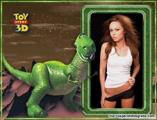 marcos de fotos con el dinosaurio de toy story